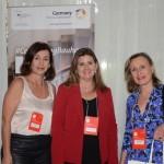 Tãnia Giatti, da Tex Travel, Margaret Grantham, da DZT, e Eliana Faro, da Mello Faro
