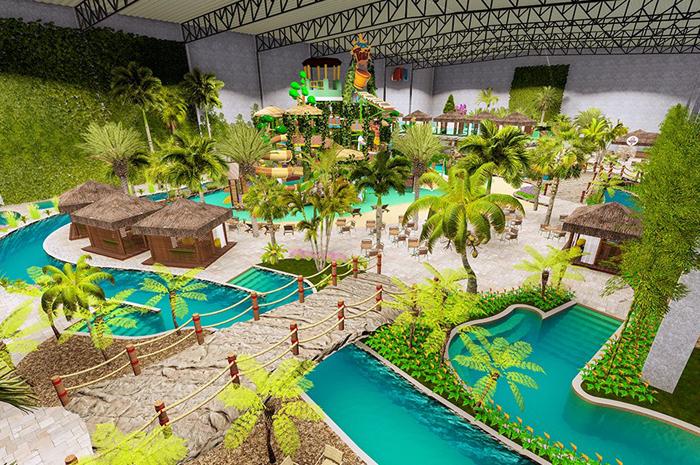 O complexo será inaugurando ainda em outubro e terá 16 atrações que vão de radicais a relaxante