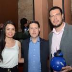 Thais Real, Daniel Bicudo e Daniel Brunold, da Azul Viagens