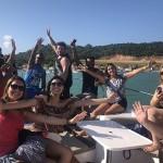 Vencedores da campanha desfrutaram de um passeio de lancha em Barra de São Miguel
