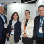 Vilson dos Santos, do Rafain, Roselene Medeiros, do Amazonastur, Gisele Lima, da Promo, e Gilmar Piolla, secretário de Turismo de Foz