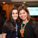 Vivian Amaral, da CVC Corp, e Diana Pomar, da DGX Travel