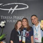 Vivian Bertachini e Marcelo Silva, da Tereza Perez Viagens; acompanhados da agente de viagens Michelle Pereira