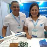 Viviane Araujo e Domingos Santana, da Air Europa