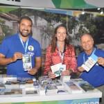 Wagner dos Santos, Amanda Salazar e Erly de Jesus, da Secretaria de Turismo do Rio de Janeiro