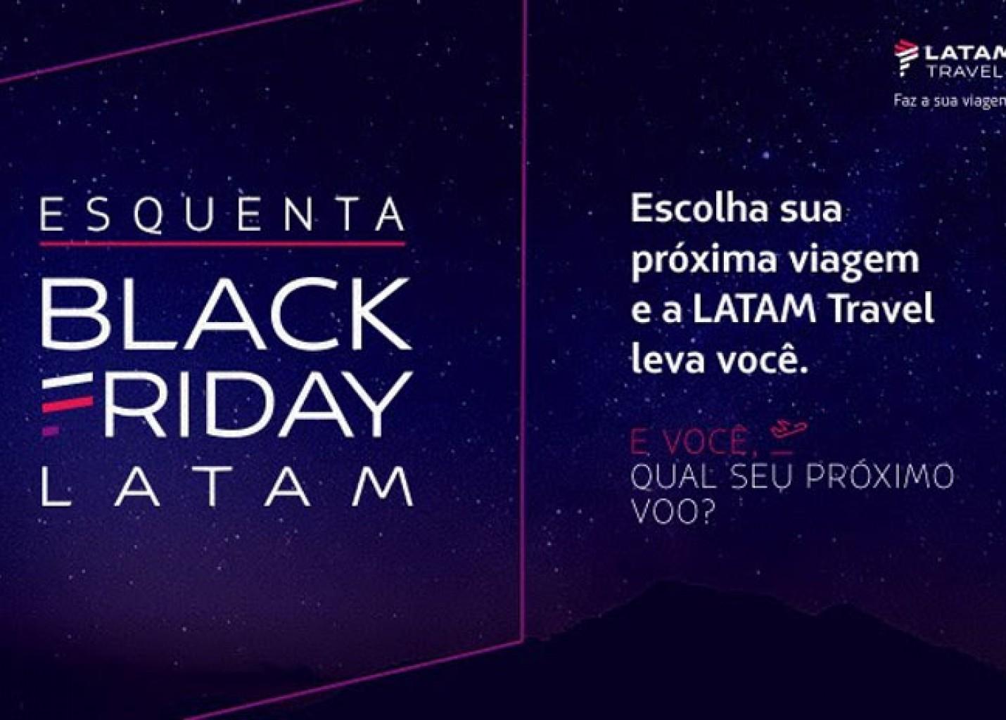 Black Friday: Latam anuncia campanha exclusiva nas redes sociais