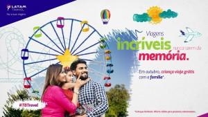 """Latam lança campanha """"Viagens incríveis nunca saem da memória"""", com duração até 27 de outubro"""