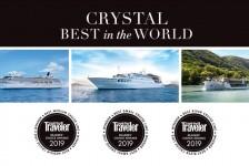 Crystal Cruises conquista três prêmios da Condé Nast em 2019