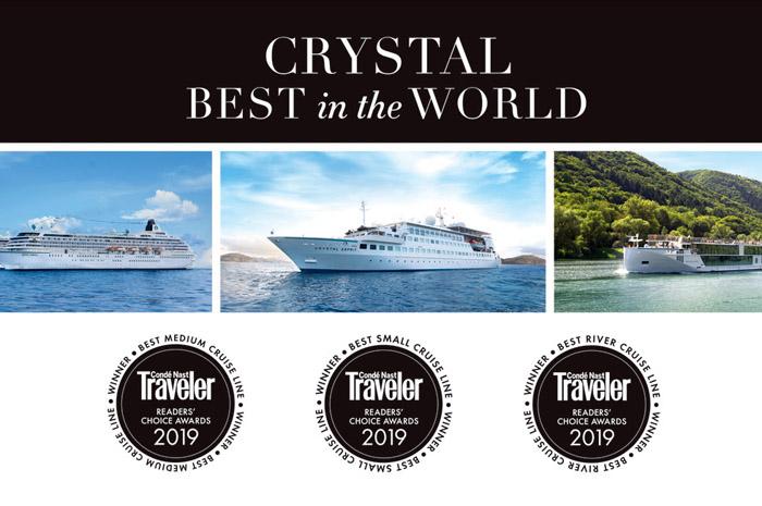 A companhia de cruzeiros de luxo angariou mais três prêmios na edição de 2019 da Condé Nast Traveler Readers' Choice Awards