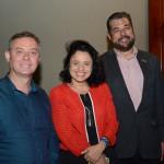 Ângelo Sanches, secretario de Turismo de Canela, Monica Samia e Roberto Nedelciu, da Braztoa