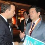 Adrian Ursilli, da MSC, e Otávio Leite, secretário de Turismo do RJ
