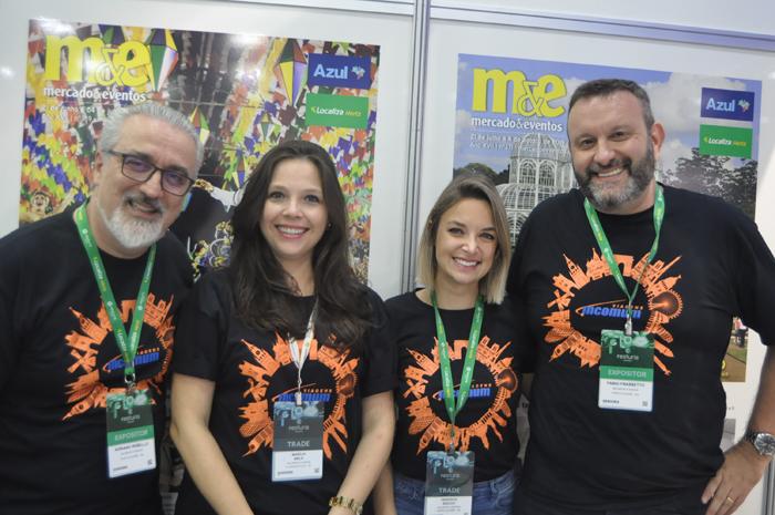 Adriano Rabello, Marília Melo, Veronica Bochi e Fabio Frasetto, da Incomum Viagens