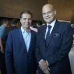 Alain Baldacci, do Wet'n Wild, e Paco Brito, vice-governador do DF