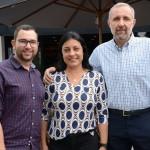 Alan Oliveira, Luciana Longo e Gustavo Esusy, da Avianca Holdings