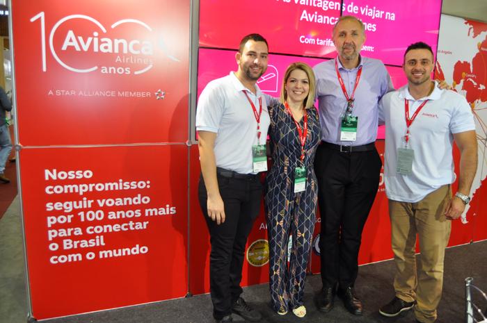 Alan Oliveira, Mariana Ferrari, Gustavo Esusy e Felipe Lemos, da Avianca Holdings
