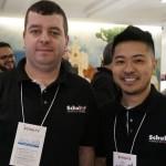 Alex Pacheco e Fernando Taira, da Schultz PR e do Administrativo