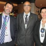Alexandre Gomes, do Píer Mauá, Ricardo Figueiredo, da Receita Federal, e Mila Justo, delegada da alfândega do Porto do Rio de Janeiro