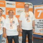 Alexandre Lança, Marilberto França e José Carlos de Menezes, da Affinity