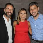 Aloysio Duarte e Lia Coutinho, do LSH, com Phillipe Campelo, do Rio CVB