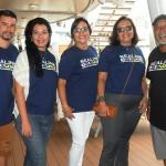 André Nascimento, Roberta Maia, Marlene Pachá, Anitta Souza e Osmar Souza, da Sealink