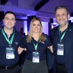 Andre Almeida, Paula Rorato, e Claiton Armelin, da CVC Corp