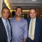 Antonio Castillo, ex conselheiro do Escritório comercial do Perú, Alfredo Novais da ABN Trading e Carlos Arca da Oficinas Comerciais de Promperu