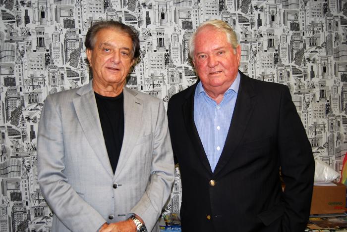 Arialdo Pinho foi recebido por Roy Taylor na sede do M&E em São Paulo