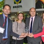 Durante a WTM, o Brasil recebeu o prêmio de melhor estande para se fazer negócios.