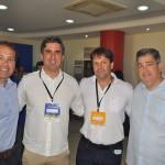 Artur Maroja, vice-presidente da ABIH-PE, Antônio Baptista, da Setur-PE, Mario Pilar, das Setur de Porto de Galinhas, e Otaviano Maroja