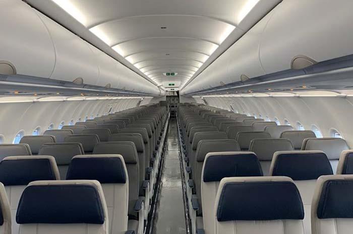 Assentos do A321neo da Azul