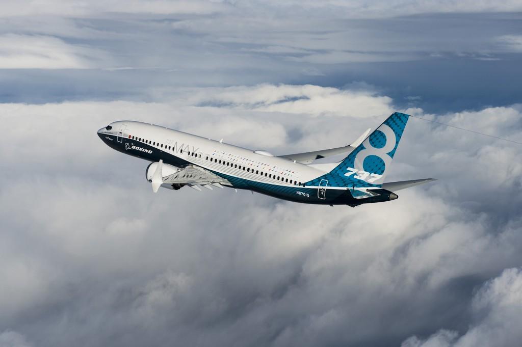 737Max; Boeing, Seattle, Renton, 737MAX First Flight, Airplane 1A001; K66500-04; Air to Air