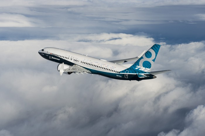 737Max; Boeing, Seattle, Renton, 737MAX First Flight, Airplane 1A001; K66500-04; Air to Air