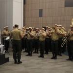 Banda do Exército durante Hino Nacional