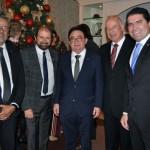 Bob Santos, do MTur, Guilherme Paulus, Manoel Linhares da ABIH e os deputados Herculano Passos e Newoton Cardoso