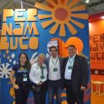 Brenda Silveira, de Porto de Galinhas, Antonio Baptista, da Setur-PE, e secretário de Turismo do Recife, Mustafá Dias