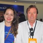 Brenda Silveira, do Porto de Galinhas CVB e MassimoPelletteri, da Associação de Hotéis de Porto de Galinhas