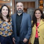 Bruna Freitas e Luciana Barbosa, da Aeromexico, com Anderson Masetto, editor do M&E