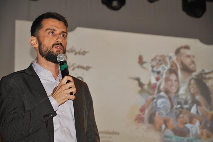 Bruno Wedling, presidente da Fundtur-MS, durante a abertura do Prêmio Isto é Mato Grosso do Sul