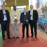 Bruno e Breno Mesquita, da BTN, com Raúl Segarte e Mariano Fernández, do Turismo de Cuba