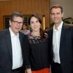 Cássio Oliveira, do Grupo Ancoradouro, Bruna Freitas, da Aeromexico, e Marvio Mansur, da Flytour Gapnet