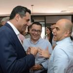 Carlos Antunes, da Copa Airlines, Edson Ruy, do Grupo Ancoradouro, e Nelson Oliveira, da Alitalia