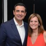 Carlos Antunes, da Copa Airlines, e  Sandra Passetto, da Air Canada