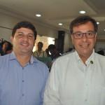 Carlos Brito e Gilson Machado Neto, da Embratur