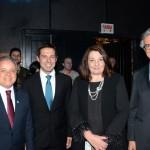 Carlos Prado, da Abracorp, Eduardo Zorzanello, do Festuris, Magda Nassar, presidente da Abav Nacional, e Marco Ferraz, da Clia Abremar