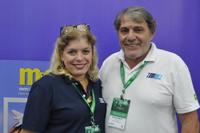 Carmem Pontes e Walter Emílio, da Tourmed