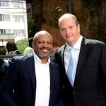 Cesar Faria, da Travelport, e Ralf Aasmann, diretor executivo da Air Tkt