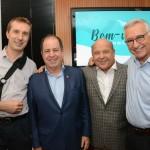 Christophe Didier, da Copa Airlines, Dilson Verçosa Jr e José Roberto Trinca, da AA, e Luiz Âmbar, da Ancoradouro