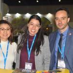 Cintia Hayashi, do Visite São Paulo, com Ana Cristina Clemente e Tiago Tomazella, da Secretaria de Turismo de São Paulo