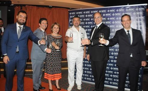 Veja fotos da cerimônia que abriu a temporada 2019/2020 da MSC no Brasil