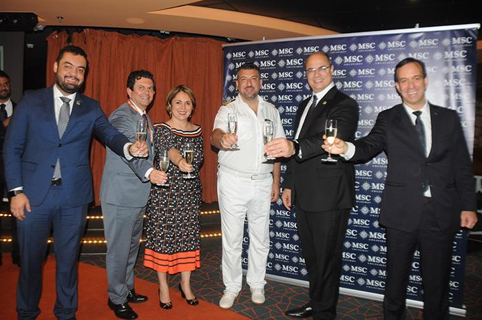 Cláudio Castro, vice-governador do RJ, Otávio Leite, Márcia Leite, Rafaelle Iaccarino, Wilson Witzel e Adrian Ursilli